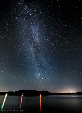 Shooting star across the Milkyway - Bergen, Norway