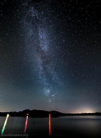 Shooting star across the Milkyway - Bergen, Norway
