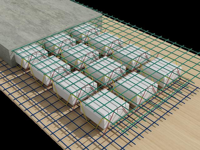 Hộp xốp nhỏ tạo rỗng sàn phẳng