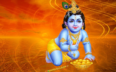 hindu god krishna hd desktop wallpaper