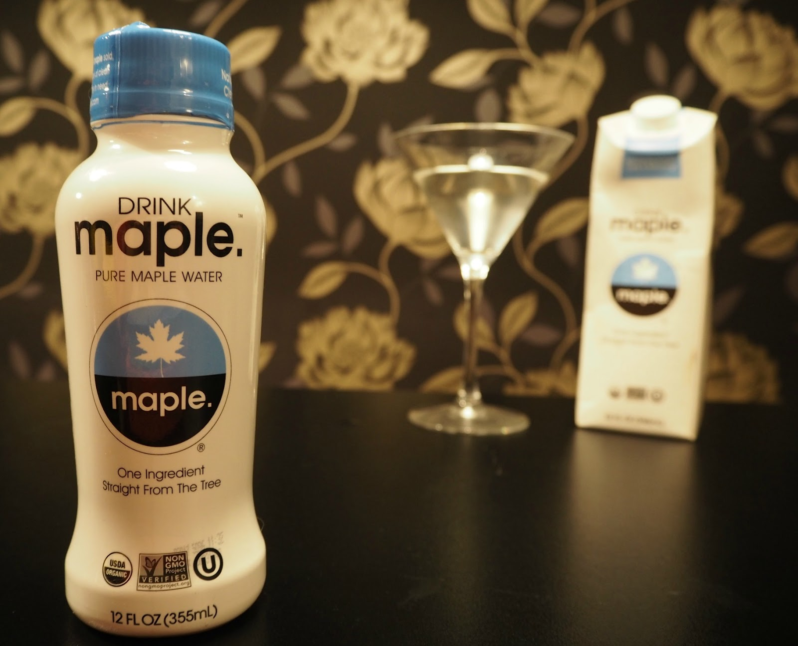 Bottle of maple water