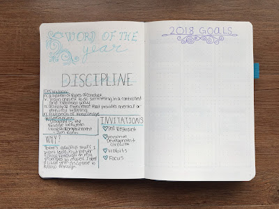 My 2018 Bullet Journal Set-up: Word of the year and goals