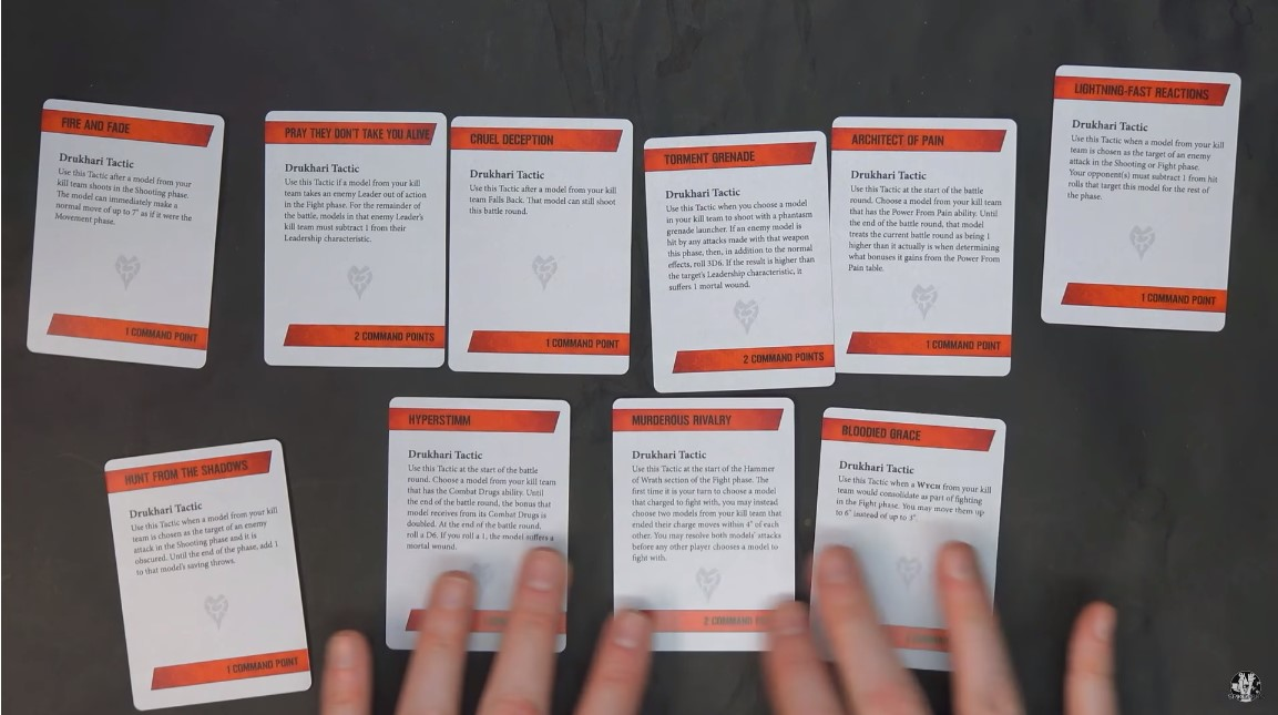 Kill team Universal tactics cards