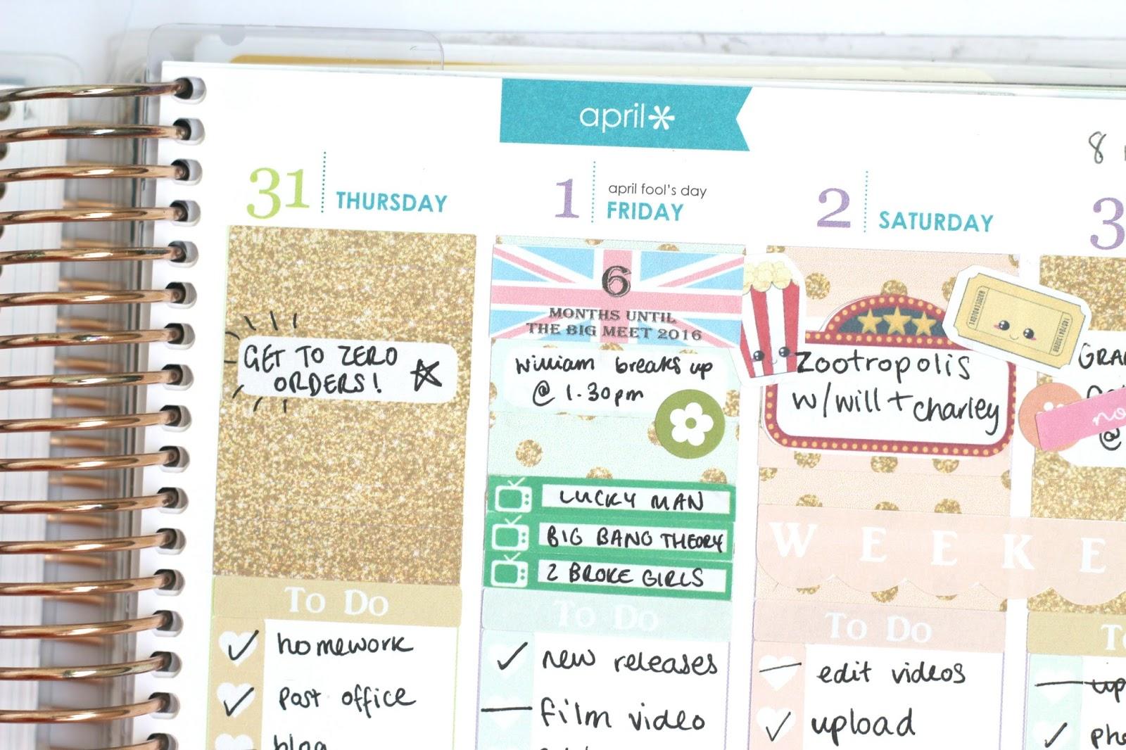 planner layout