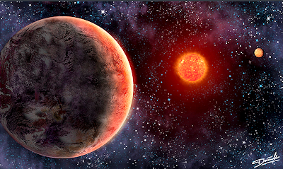 Artist's Illustration of the GJ 273 System