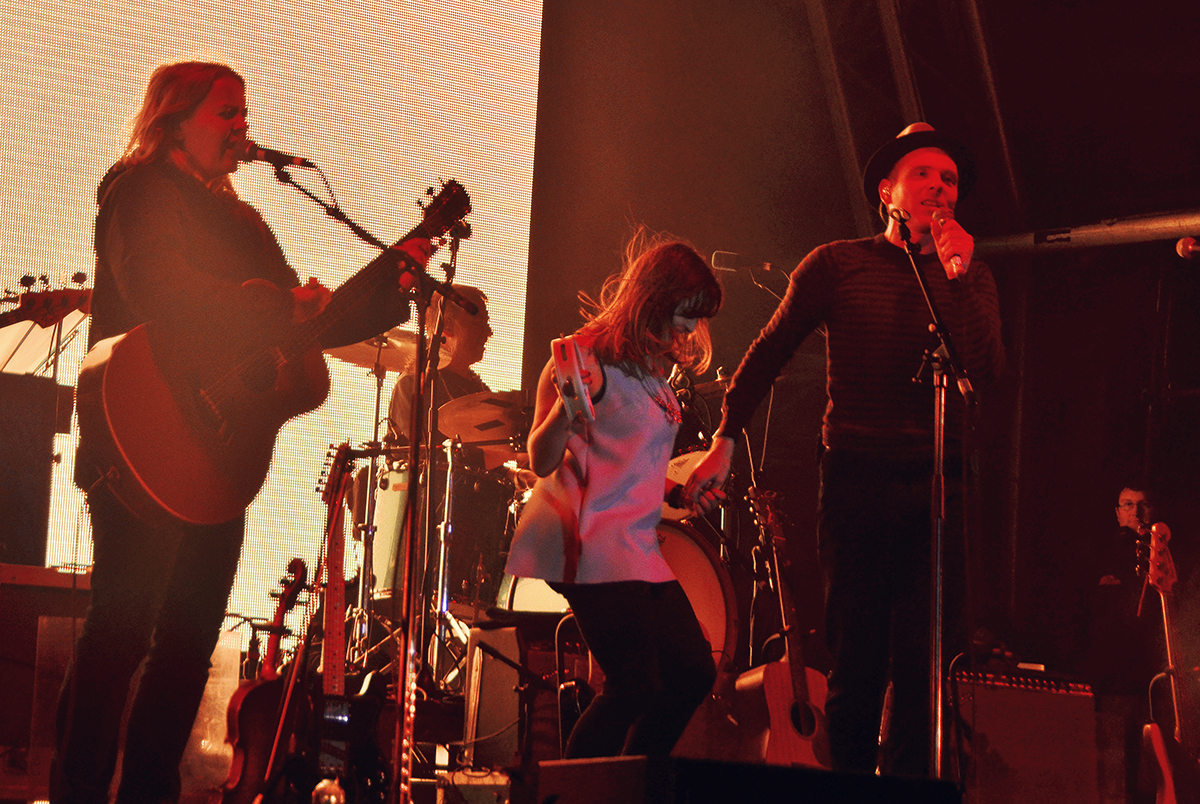 Belle and Sebastian party on stage 2015 Liverpool Sound City Festival
