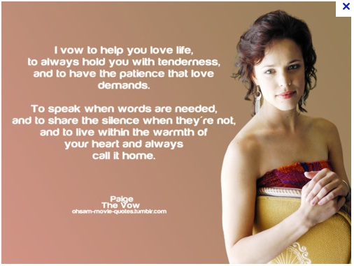 MOVIES - lOvE tO wAtcH: tHe vOw - quOtEs