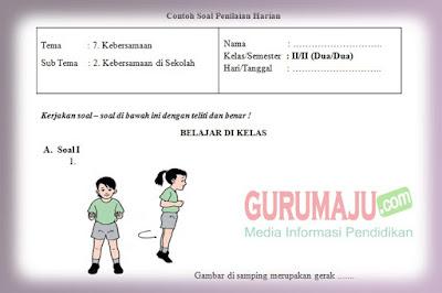 Soal PH / UH PJOK Kelas 2 Tema 7 Kurikulum 2013 Tahun 2019