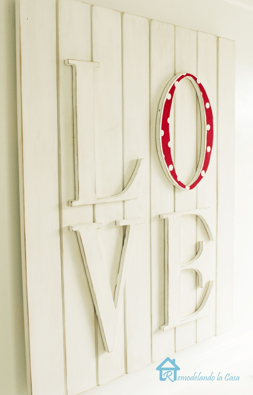 DIY LOVE wall art pottery barn knock out