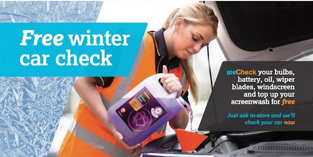 halfords free winter car check