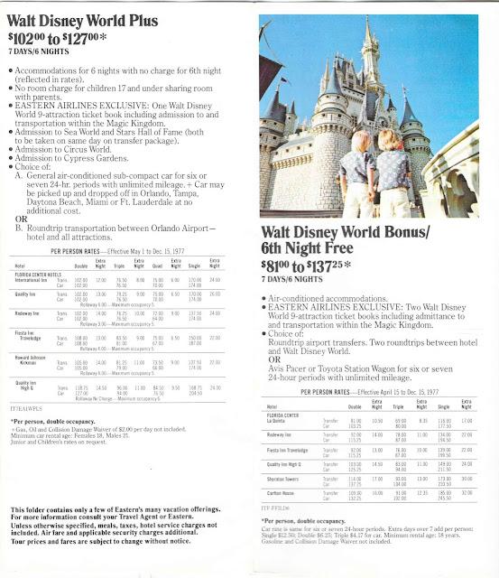 Walt Disney World Plus Eastern Airlines Guide 1977