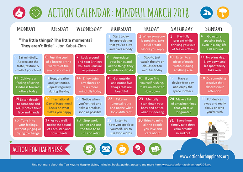 http://www.actionforhappiness.org/mindful-march