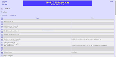 The PCI ID Repository