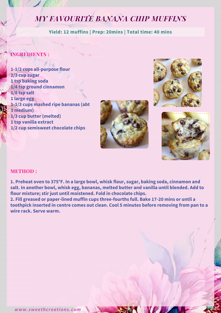 MY FAVOURITE BANANA CHIP MUFFINS RECIPE