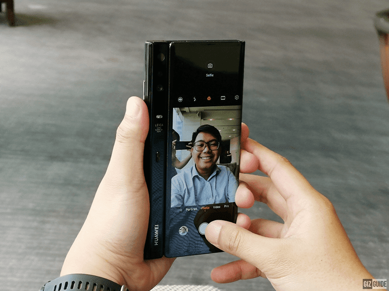 Selfie using the Leica triple cam? Why not?