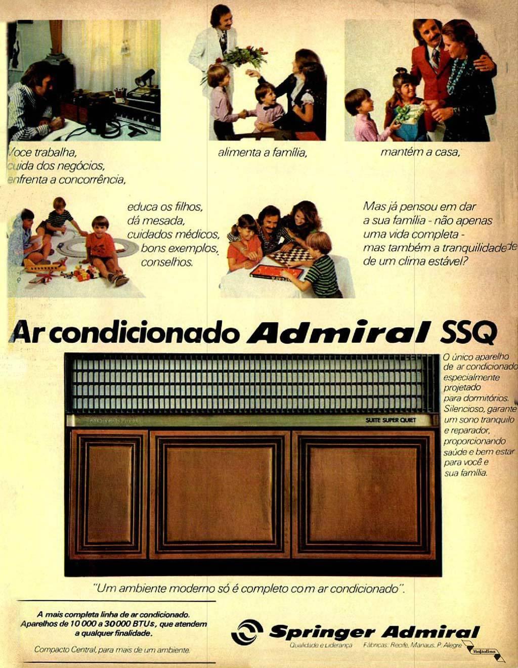 Campanha veiculada nos anos 70 dos benefícios do ar-condicionado no lar