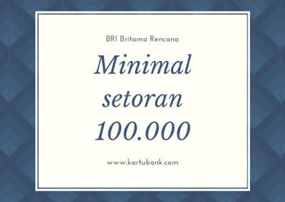 Gambar 1 Tabungan Britama Rencana Menabung Minimal Rp.100.000 Perbulan