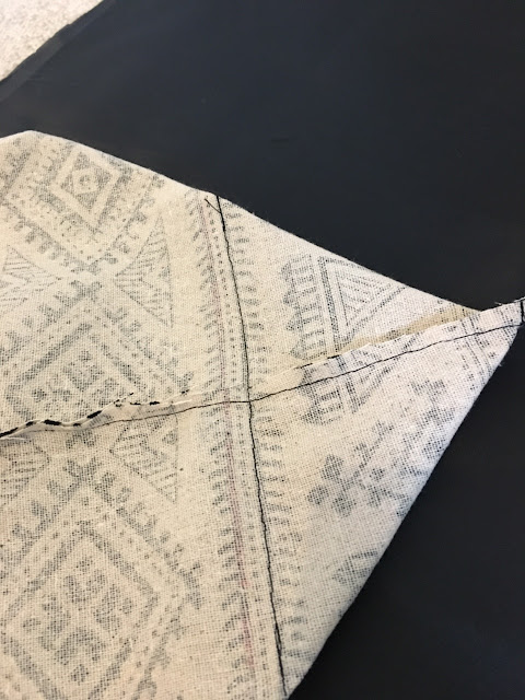 sew perpendicular to seam