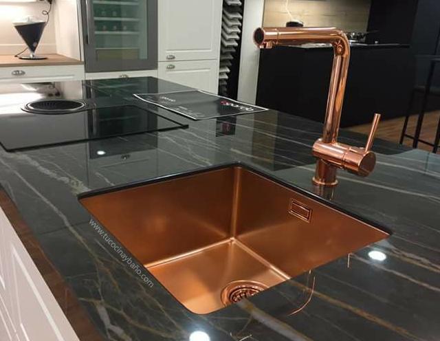 Fregadero cobre vintage tu cocina y ba o - Medidas fregaderos cocina ...