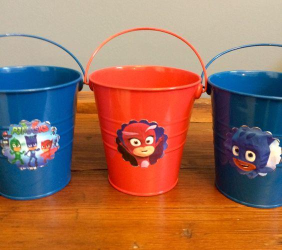 Lembrancinhas balde PJ Masks