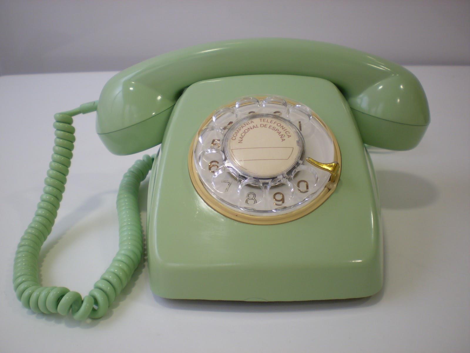Cosas De Antaño Teléfono Verde Manzana De Los Años 60 70