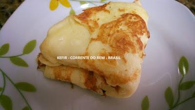 PÃO DE QUEIJO DE FRIGIDEIRA COM CREAM CHEESE DE KEFIR (SEM LACTOSE E SEM GLÚTEN)