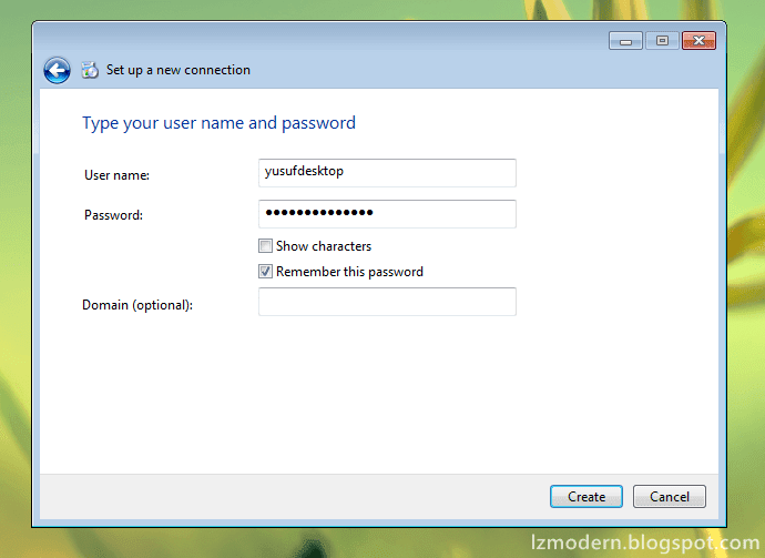 Cara Membuat Username dan Password VPN di Windows 7