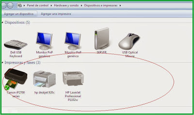printing devices windows 7
