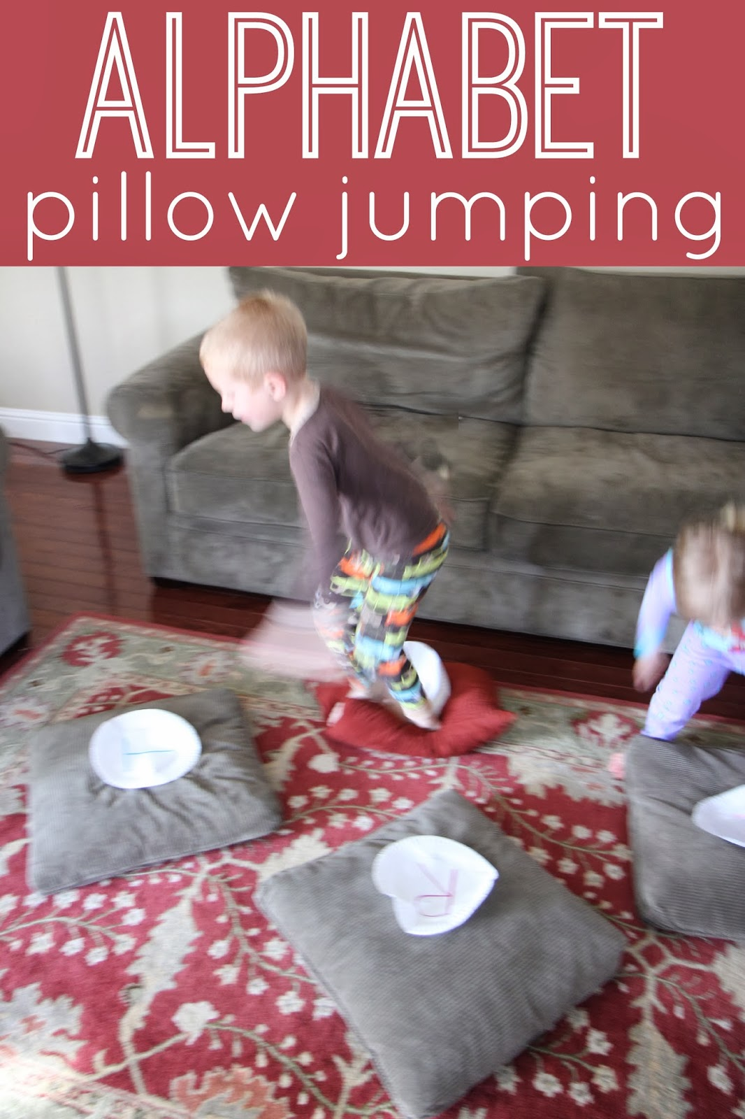Toddler Approved Alphabet Pillow Jumping