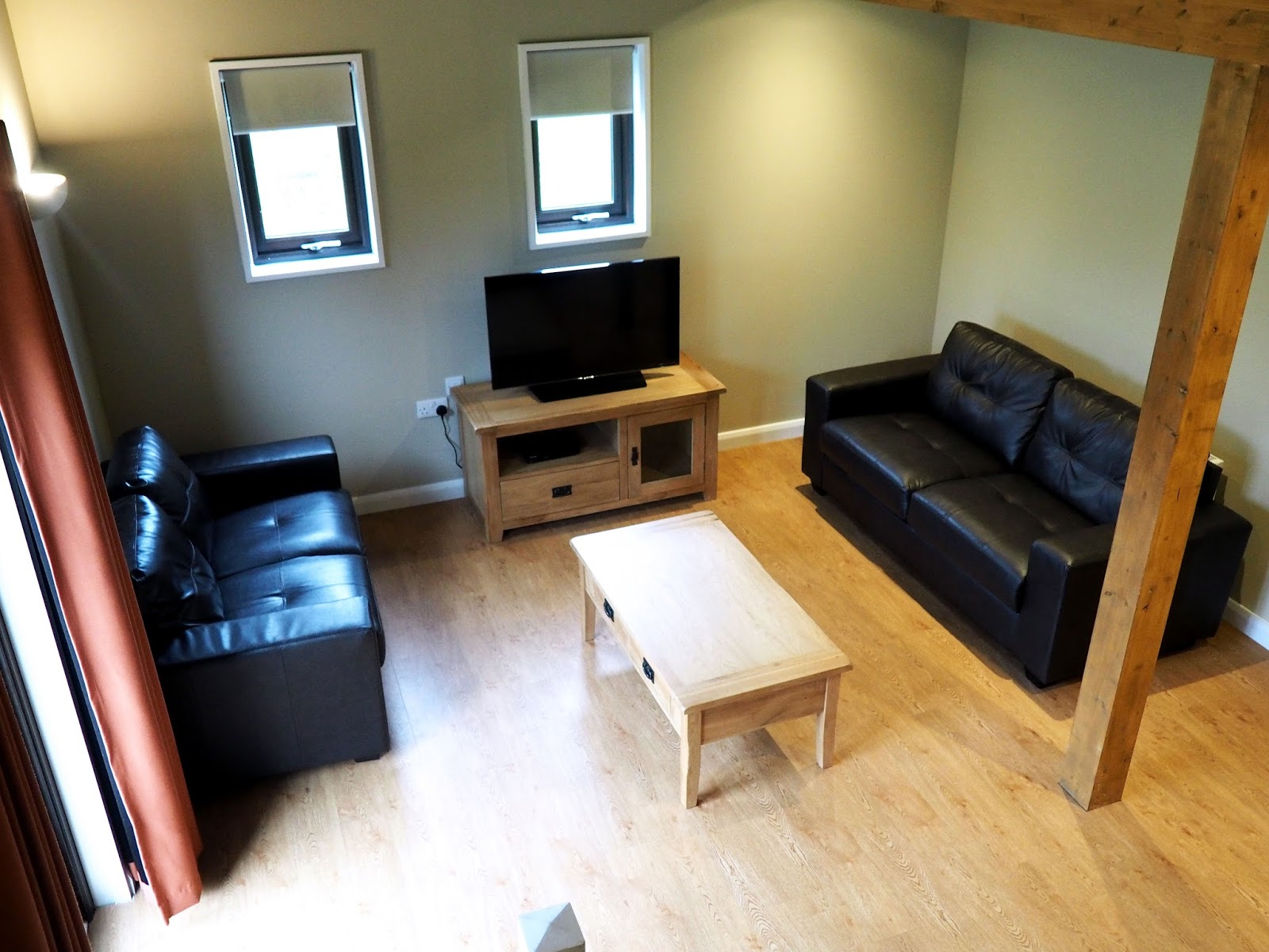 Bluestone Wales St Davids Lodge Living Area