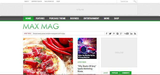 MaxMag- Wordpress news and magazine Themes 2016