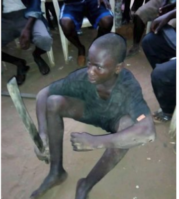 WTF, A Teenage ritualist Has Just been Arrested On Mission to Behead Victim