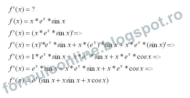 functii derivabile rezolvate