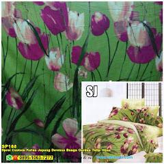 Sprei Custom Katun Jepang Dewasa Bunga Garden Tulip Hijau