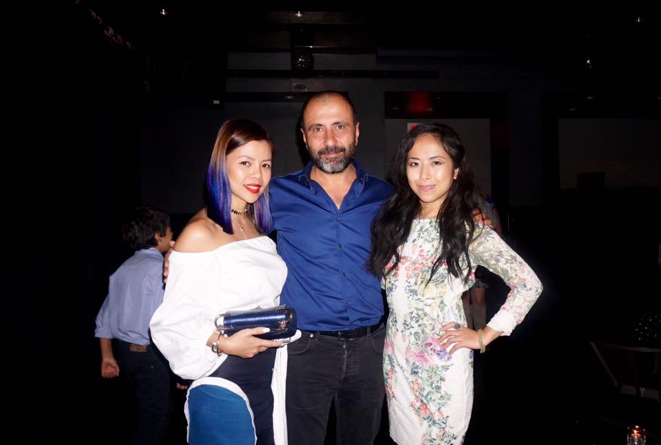 Crystal Phuong and Fashion Designer John Paul Ataker at the after party, New York Fashion Week