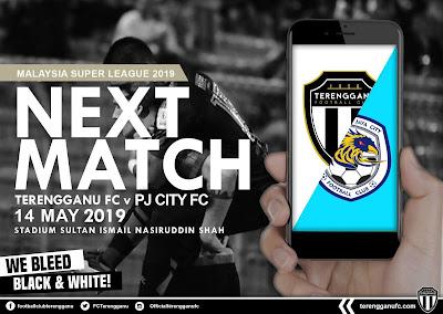 Live Streaming Terengganu vs PJ City Liga Super 14.5.2019