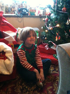 Child among the presents