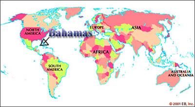 Bahamas World Map