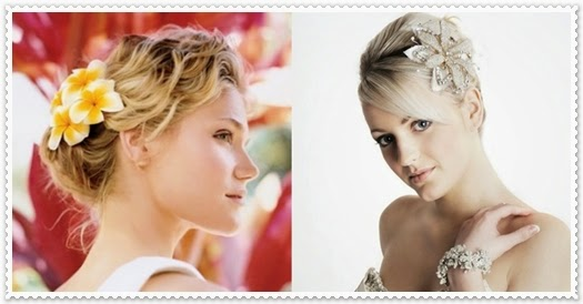 Brautfrisuren für kurze Haare 2014