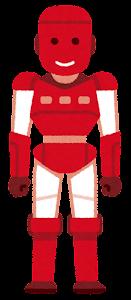 人型ロボットのイラスト(赤)