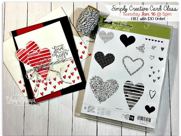 Simply Creative Card Class - Tuesday, Jan. 16th!