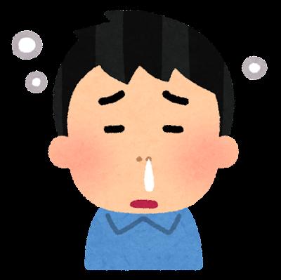 鼻づまりのイラスト(男性)