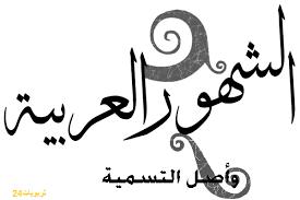 أسباب تسمية الشهور العربية