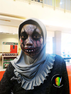 scary face painting