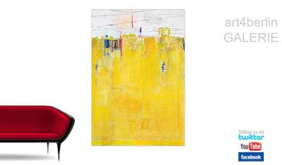 Objekteinrichtung mit modernen XXL Kunst Bildern