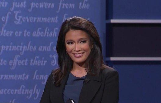 Who won the VP Debate? Moderator Elaine Quijano!