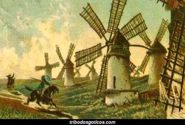 moinho de vento quadro historia