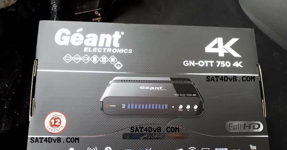 OTT Update: Nouvelle Mise à Jour Géant OTT-750 4K 10-02-2018 V3.05