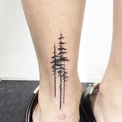 ankle back tree tattoo ayak bileği arkası ağaç dövmesi
