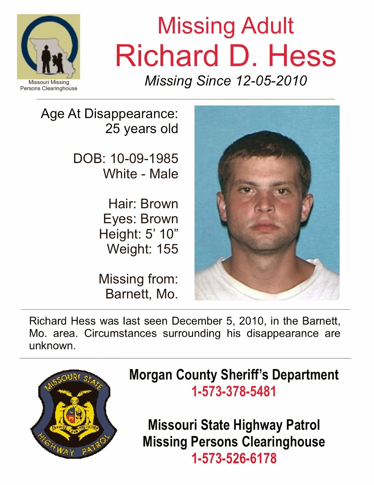 Richard Hess: Missing from Barnett ...
